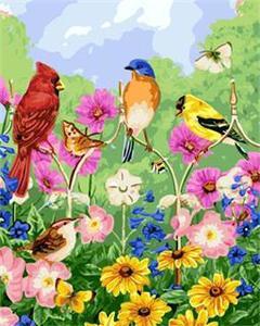 "РН GX5537 ""Птички, бабочки, цветы"", 40х50 см"
