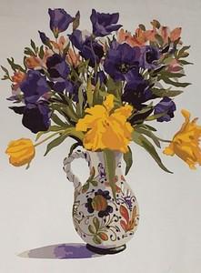 "РН GX5598 ""Цветы в разрисованном кувшине"", 40х50 см"