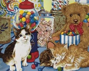 "РН GX5600 ""Три котенка среди игрушек"", 40х50 см"
