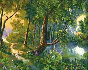 """РН GX5628 """"Тропинка у лесного озера"""", 40х50 см"""