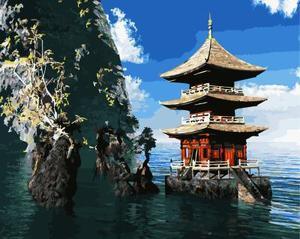 """РН GX21146 """"Буддийский храм в воде"""", 40х50 см"""