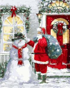 """РН GX21398 """"Санта со снеговиком"""", 40х50 см"""