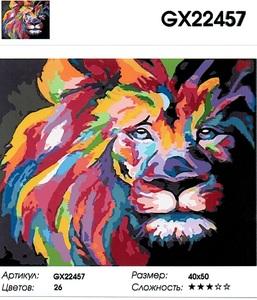 "РН GX22457 ""Радужный лев в анфас"", 40х50 см"