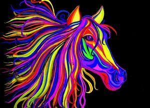 """РН GX22476 """"Голова радужной лошади"""""""", 40х50 см"""