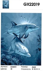 "РН GX22019 ""Пара дельфинов"", 40х50 см"