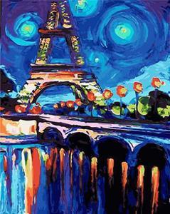 """РН GX23440 """"Эйфелева башня"""" Ван Гог, 40х50 см"""