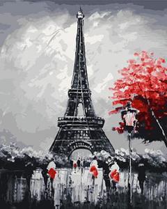 "РН GX23808 ""Красное дерево у эйфелевой башни"", 40х50 см"