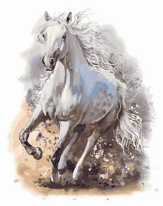 """РН GX23809 """"Белый конь в галопе"""", 40х50 см"""