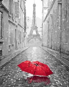 "РН GX23824 ""Красный зонт перед Эйфелем"", 40х50 см"