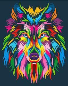 "РН GX23828 ""Радужный волк"", 40х50 см"