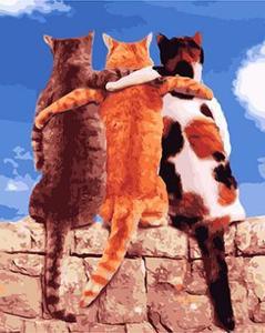 """РН GX23866 """"Три кота в обнимку"""", 40х50 см"""