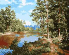 """РН GX24318 """"Река в сосновом лесу"""", 40х50 см"""