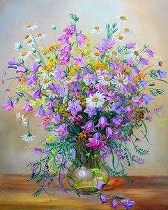 """АРС12125 """"Полевые цветы в стеклянной вазе"""", 40х50 см"""