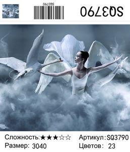 """РЗ SQ3790 """"Балерина с лебедем"""", 30х40 см"""