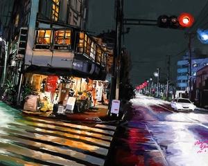 """РН GX24576 """"Ночное Токио"""", 40х50 см"""