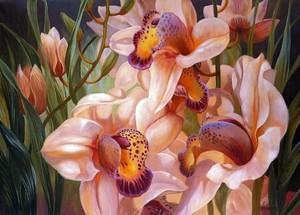 "РН GX24619 ""Орхидеи и листва"", 40х50 см"