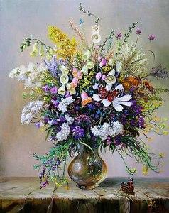 """РН GX24637 """"Цветы полевые и бабочка на столе"""", 40х50 см"""