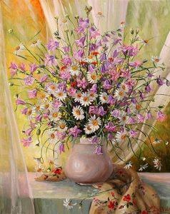 """РН GX24771 """"Луговые цветы и платочек с цветами"""", 40х50 см"""