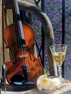 """РН GX24650 """"Шампанское и скрипка"""", 40х50 см"""