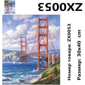 """АМ34 ZX0053 """"Вантовый мост"""", 30х40 см"""