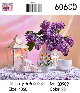 "РН Q3909 ""Сирень, свеча, зефир"", 40х50 см"