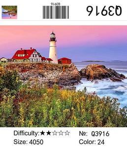 """РН Q3916 """"Красный дом, белый маяк"""", 40х50 см"""