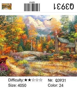 "РН Q3931 ""Домик в осеннем лесу"", 40х50 см"