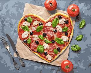"""РН GX25012 """"Пицца-сердце"""", 40х50 см"""