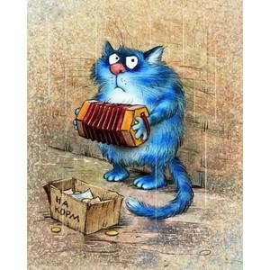 """РН GX23542 """"Кот с гармошкой"""", 40х50 см"""