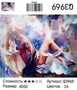 """РН Q3969 """"Девушка и голуби"""", 40х50 см"""