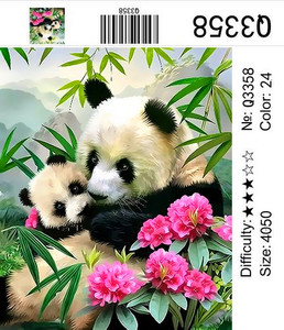 "РН Q3358 ""Панда-мама с малышом"", 40х50 см"