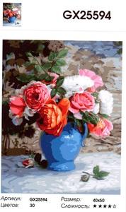 "РН GX25594 ""Цветы в синем кувшине"", 40х50 см"