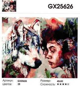 "РН GX25626 ""Девушка НЕ смотрит на волка"", 40х50 см"
