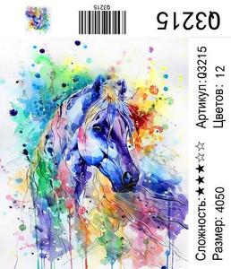 """РН Q3215 """"Красочная лошадь"""", 40х50 см"""